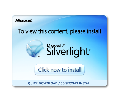 Installation von Silverlight starten. Launch installation of Silverlight